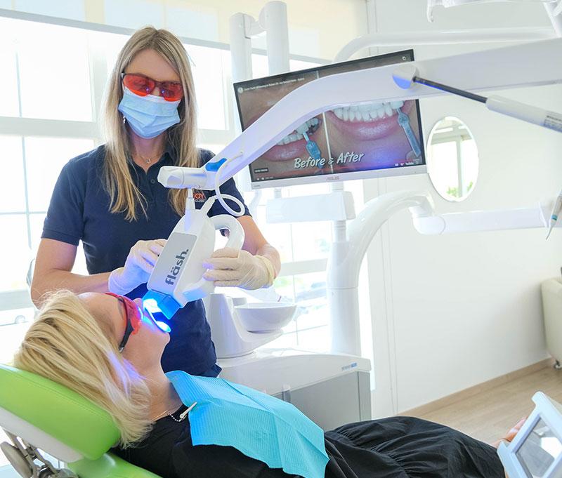 zoom teeth whitening process